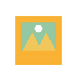 photographs with mountains and sun icon imag vector image