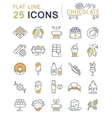 Set Flat Line Icons Chocolate vector image