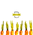 Watercolor Easter carrots background vector image