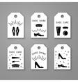 shoe care elements vector image