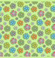 flower pattern on a green background vector image