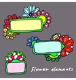 plates on background patterns of flowers vector image