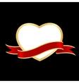 heart frame ribbon vector image