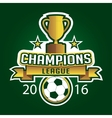Champion soccer league logo emblem badge graphic vector image vector image