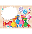 candy sticker background vector image