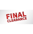 Banner Final Clearance vector image