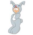 Cartoon man using a rabbit costume vector image