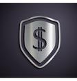 Flat metallic logo dollar vector image