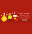 happy new year banner horizontal concept vector image