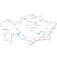 Kazakhstan Black White Map vector image