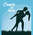 leaning over couple design vector image