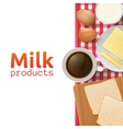Milk and dairy products concept vector image