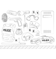 Police Safety concept vector image