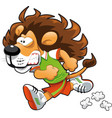 Runner Lion vector image