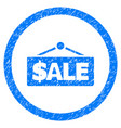 sale label rounded grainy icon vector image