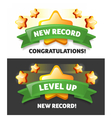 Web new record a message vector image