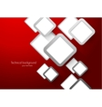 Abstract red background with squares vector image vector image
