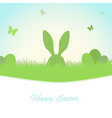 Easter spring background vector image