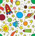 seamless pattern with childrens space vector image vector image
