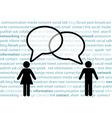 people symbol share social network talk bubbles vector image vector image