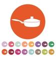 The pan icon Dripping Pan symbol Flat vector image