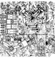 Seamless  drawing motors vector image