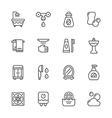 Set line icons of bathroom vector image vector image