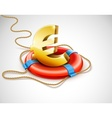 life buoy rescue ring helps vector image vector image