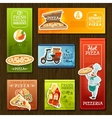 Pizza Banners Set vector image