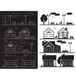 house on street icon vector image