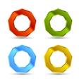 enneagon shapes set vector image