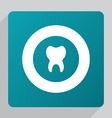 flat tooth icon vector image