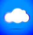 Halftone cloud shape with color aberrations vector image