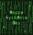 happy sysadmin day vector image