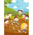 Hopscotch vector image