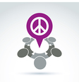 People chat on harmony idea Conceptual antiwar vector image