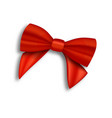 realistic red ribbon isolated vector image