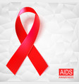 realistic red ribbon on white vector image
