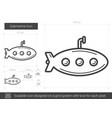 submarine line icon vector image