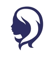 Woman silhouette concept emblem of beauty or vector image