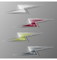 Set of glass lightning icon vector image