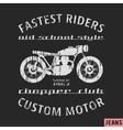 Motorcycle vintage stamp vector image