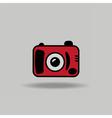 Cute colorful icon of digital camera vector image
