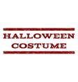 Halloween Costume Watermark Stamp vector image