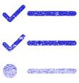 checklist grunge textured icon vector image