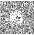 cartoon hand-drawn doodles concept vector image
