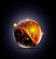 xmas balls vector image vector image