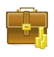 isolated business bag vector image vector image