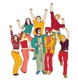Happy lgbt rainbow people couple gay together vector image