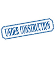 under construction square blue grunge vintage vector image